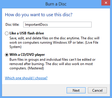 Cara burning file ke CD tanpa software apapun