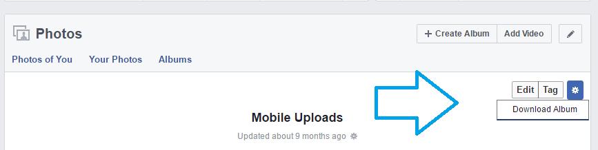 Cara Download Album Photo di Facebook dengan Sekali Klik